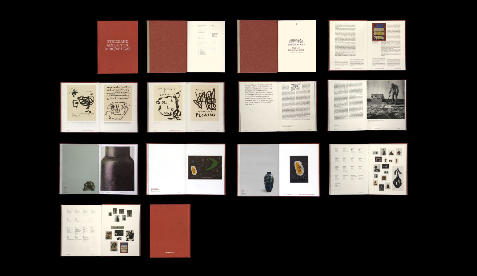 """Catálogo """"Ética y Estética: Miró/Artigas"""" diseñado para la Galería Mayoral"""