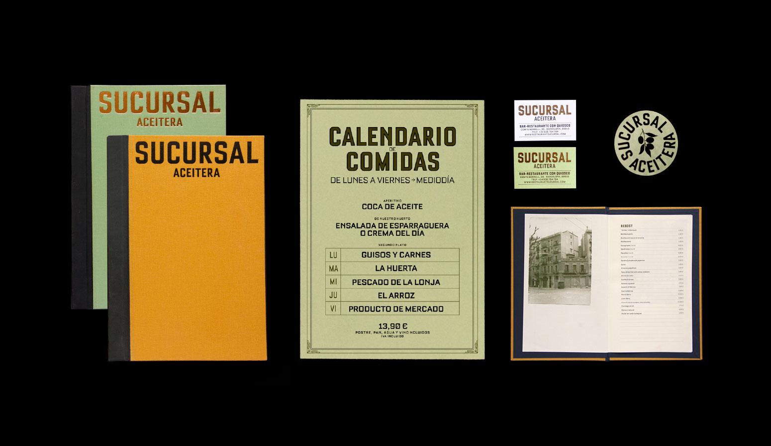 Diseño de cartas y menús, posavasos, tarjetas y otros elementos para el restaurante