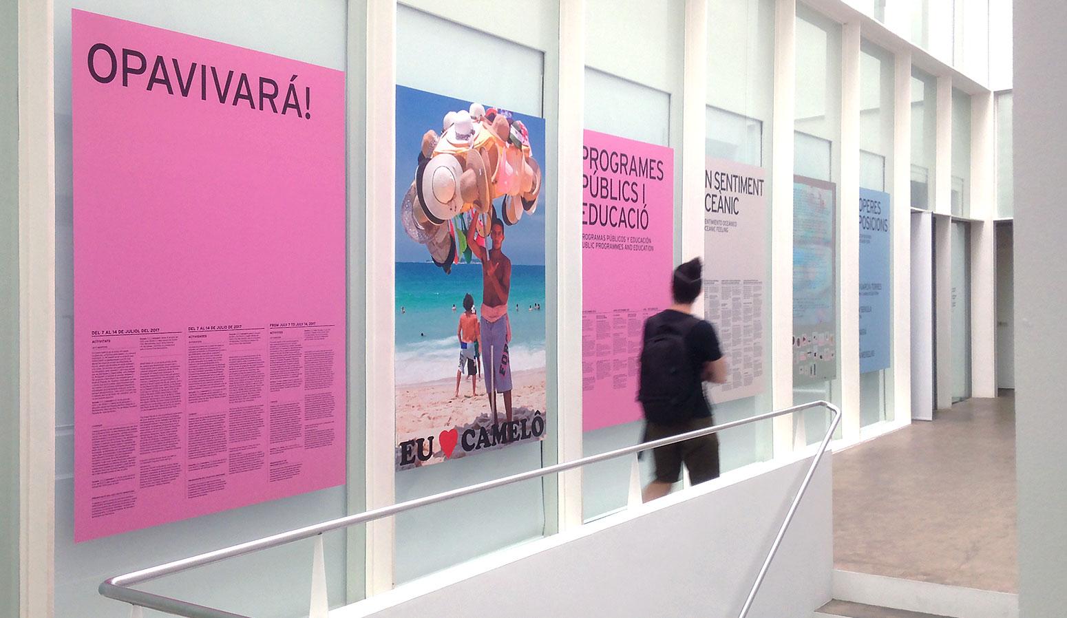 Gráfica aplicada para mostrar los programas públicos del museo Fundació Antoni Tàpies - dosgrapas | Estudio de diseño gráfico en Barcelona