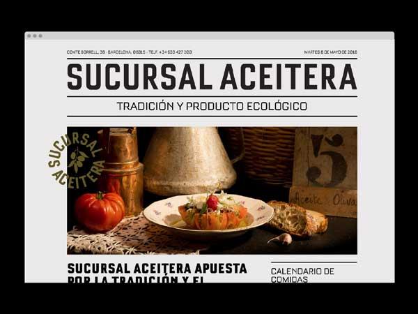 Página web para el restaurante Sucursal Aceitera - dosgrapas