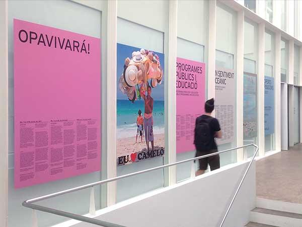 Diseño exposición y gráfica aplicada para el museo Fundació Antoni Tàpies - dosgrapas