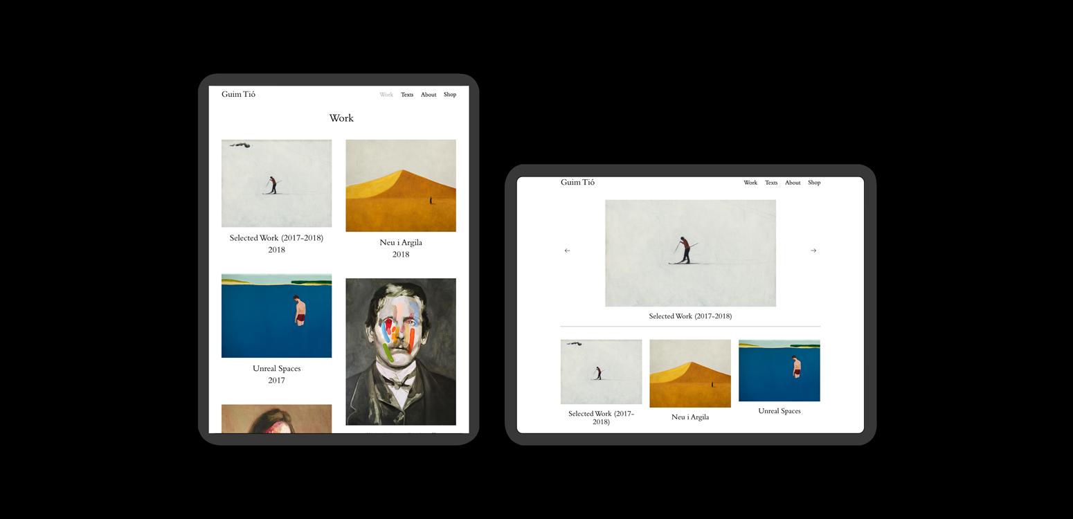 Diseño página web para Guim Tió - dosgrapas | Estudio de diseño gráfico en Barcelona