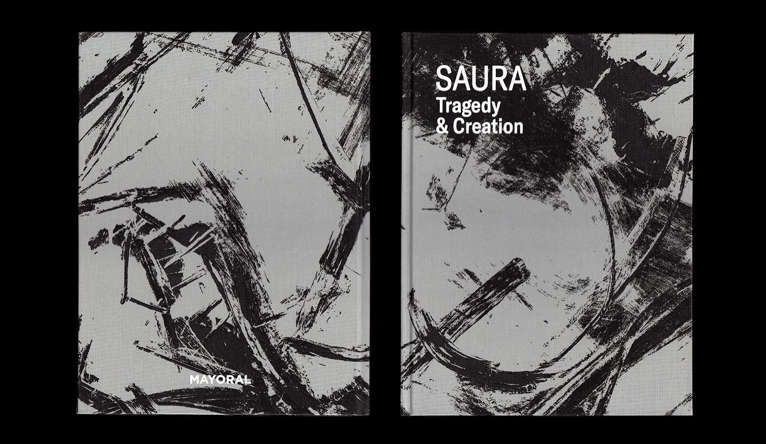 Diseño de la publicación ''Saura. Tragedy & Creation'' - dosgrapas