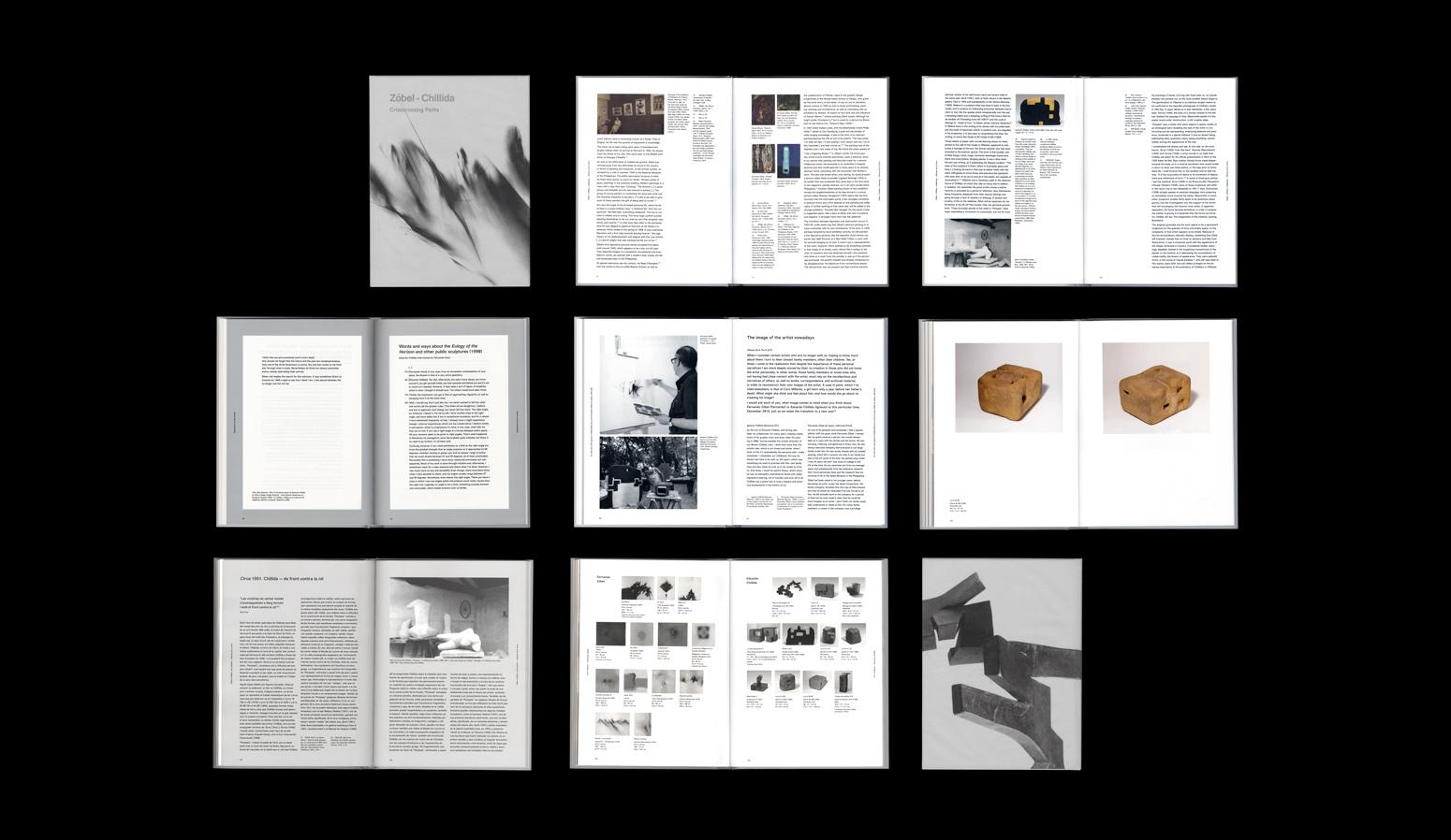 """Diseño de la publicación """"Zóbel-Chillida. Caminos cruzados."""" para Galería Mayoral. - dosgrapas"""